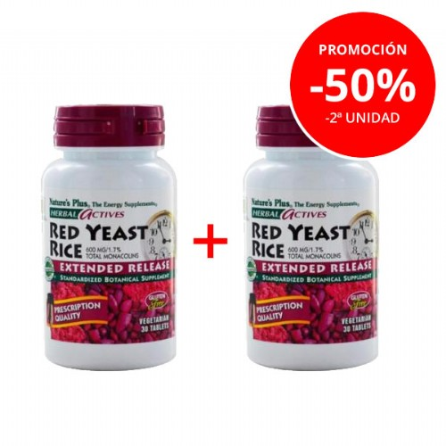 NATURE'S PLUS PACK RED YEAST RICE 50% 2ºUNIDAD