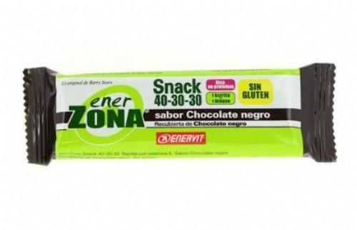 Enerzona 40-30-30 snack bar (chocolate negro 1 barrita 27 g)