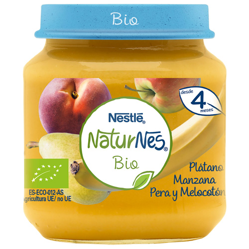 Nestle naturnes bio platano manzana pera melocoton (tarrito 120 g)