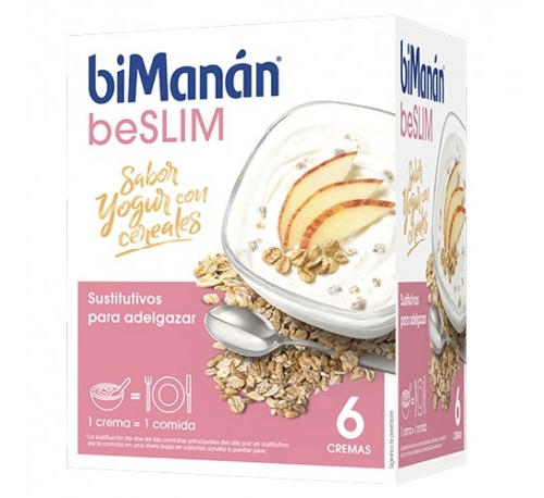 Bimanan crema yogur con cereales (312 g 6 sobres)