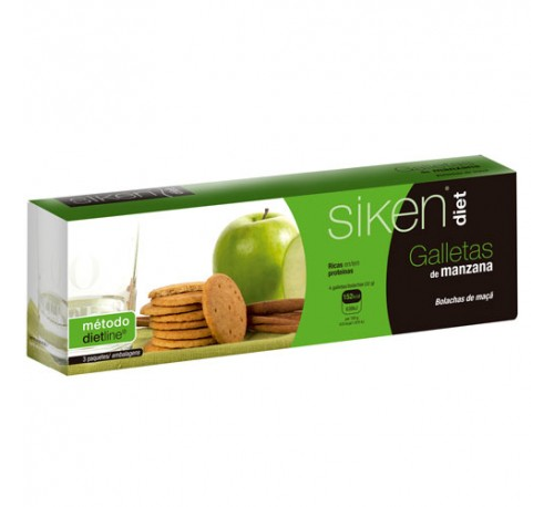 Siken diet galletas de manzana (15 galletas)