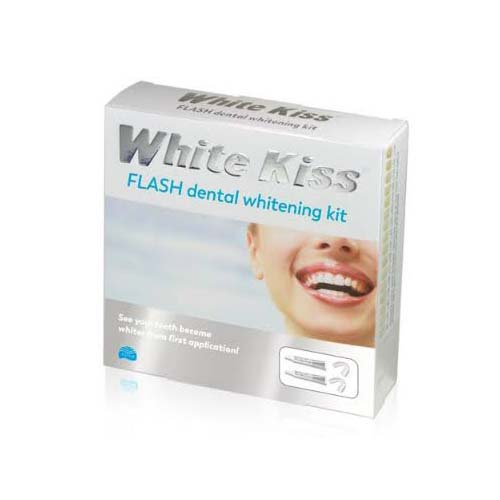 White kiss flash completo blanqueamiento dental (6 ml 2 tubos)