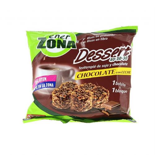 TENTEMPIE DE SOJA Y CHOCOLATE CON LECHE enerzona dessert 40-30-30 (24 g 1 bolsita)