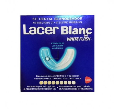 Lacerblanc white flash kit dental blanqueador