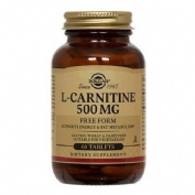 L-carnitina 500mg free form 60tablets solgar