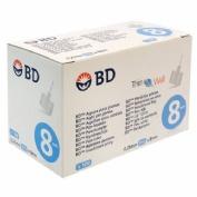 BD aguja para plumas esteril (31 g (0.25 mm x 8 mm) 100 u/caja)