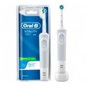 Cepillo dental electrico recargable - oral-b vitality 100 cross action (blanco)