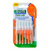GUM 1412 TRAV-LER cepillo interdental viaje (ultrafino 0.9 mm cilindrico 6u)