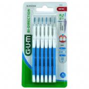 GUM 2314 BI-DIRECTION cepillo interdental (micro-fino conico 6 u)