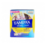 Tampax compak pearl tampon 100%algodon (regular 16 u)
