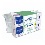 Mustela pack crema balsamo 100 ml 2u+ toallitas
