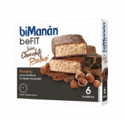 HIPERPROTEICA E HIPOCALORICA bimanan metodo pro barrita chocolate praline (6 barritas)