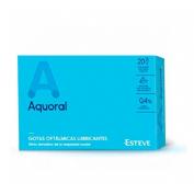 GOTAS OFTALMICAS LUBRICANTES ESTERILES aquoral gotas humectantes c/ a hialuronico 0.4% (0.5 ml 20 mo