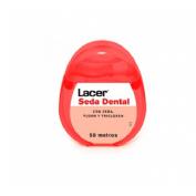 Lacer seda dental con cera, fluor y triclosan (50 m)