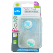 Chupete silicona - mam perfect start an (0-2 m pack doble)