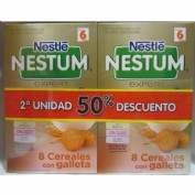 Nestum pack 8 cereales con galleta 2x600g