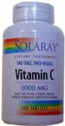 Solaray vitamina c 1000mg 100 comprimidos,vitamina