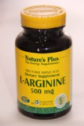 NATURES PLUS ARGININA 500 MG