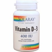 SOLARAY VITAMIN D-3 120 SOFTGELS