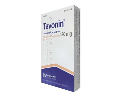 TAVONIN 120 MG COMPRIMIDOS RECUBIERTOS CON PELICULA , 15 comprimidos