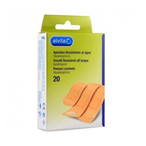Alvita - aposito adhesivo resistente al agua (20 u)