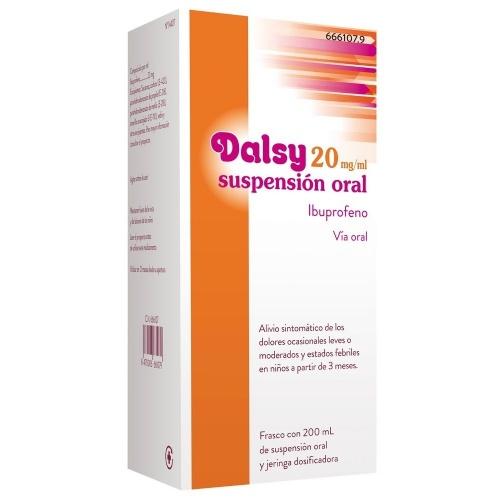 DALSY 20 mg/ml SUSPENSION ORAL , 1 frasco de 150 ml