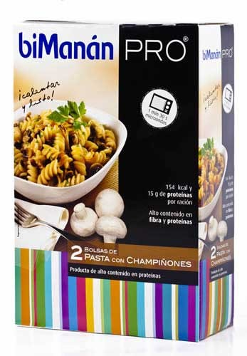 Bimanan pro pasta express champiñones (300 g 150 g x 6 u)