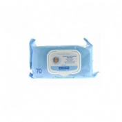 LECHE DE TOILETTE klorane bebe toallitas limpiadoras suaves (70 toallitas)