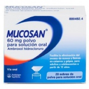 MUCOSAN 60 mg polvo para solución oral , 20 sobres