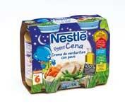 Nestle peque cena puré de verduras y pavo (200 g 2 u)