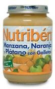 Nutriben manzana naranja platano y galleta (potito junior 200 g)