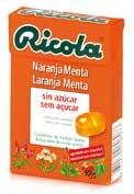 Ricola caramelos naranja menta 50g