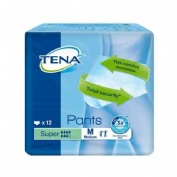 TENA PANTS SUPER absorb inc orina ligera (t- med 12 u)