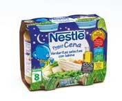 Nestle peque cena verduras selectas y lubina (200 g tarro junior 2 u)
