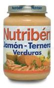 Nutriben jamon ternera verdura (potito junior 200 g)