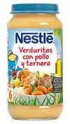 Nestle pure de verduras con pollo y ternera (250 g)