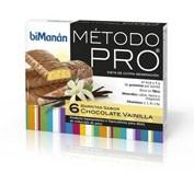 BIMANAN METODO PRO BARRITA CHOCOLATE- VAINILLA - HIPERPROTEICA E HIPOCALORICA (6 BARRITAS)