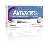 ALMAX 500 mg COMPRIMIDOS MASTICABLES , 30 comprimidos