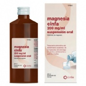 MAGNESIA CINFA 200 mg/ ml SUSPENSION ORAL, 1 frasco de 260 ml