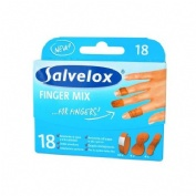 APOSITO ADHESIVO salvelox finger mix (surtido 18 u)