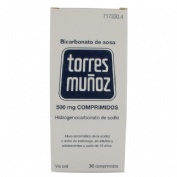 BICARBONATO DE SOSA TORRES  MUÑOZ  500 mg COMPRIMIDOS , 30 comprimidos