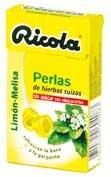 Ricola perlas limón melisa 25g
