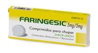 FARINGESIC 5 mg/5 mg COMPRIMIDOS PARA CHUPAR SABOR LIMON , 20 comprimidos